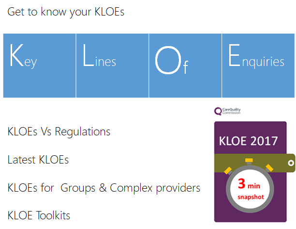 KLOEs site guide get to know
